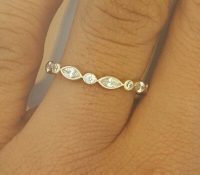 band pin bands ring wedding eternity stackable ct diamond