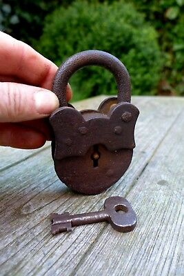 Antique Padlock With One Working Key Unique Made in Russia Collector Rare 08-09