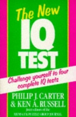 The New IQ Test by Carter, Philip J. Paperback Book The Cheap Fast Free Post