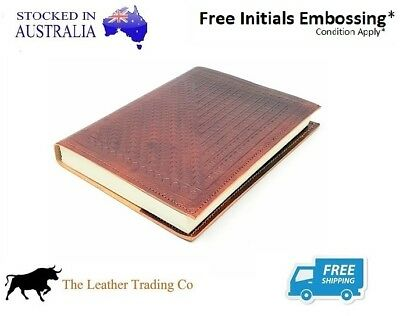 Travel Leather Journal - Embossed Refillable Notebook - Hearts - Handmade Paper