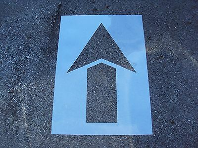 "40"" Straight Parking Lot Arrow Stencil, 1/16"" Re-Usable, Flexible LDPE Plastic"