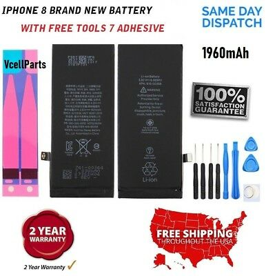New Genuine 1960 mAh Replacement Battery + Tape + Tools for Apple iPhone 7 4.7""