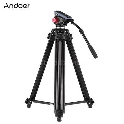 "Professional Heavy Duty 72"" Studio Video Camera Tripod Stand with Fluid Pan Head"