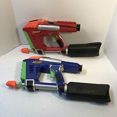 Lot 2 Nerf Dart Tag Magstrike 2006 Dart Guns Only ~ No Ammo Clips ~ Red & Blue