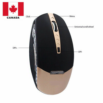 2.4GHz Rechargeable Wireless Optical LED Mouse/Mice + USB 2.0 Receiver Canada