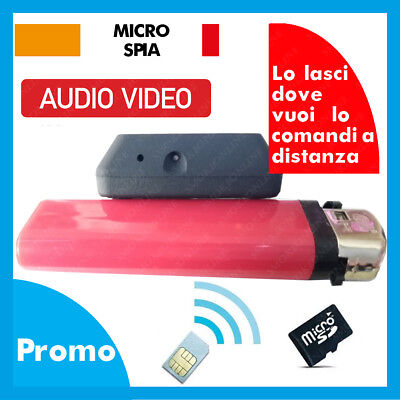 Microspia Cimice Gsm Spia Audio Video  Registra Su Micro-Sd Gsm Sim A Distanza