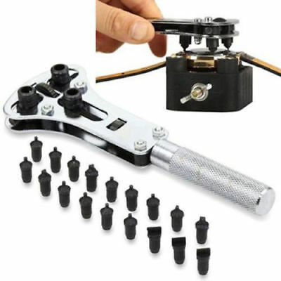 Useful Watch Repair Back Case Opener Wrench Screw Cover Remover Tool Kits