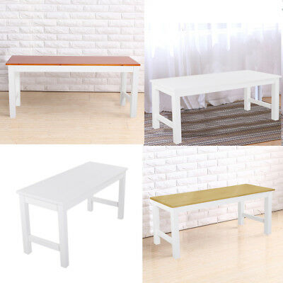 White, Brown, Natural Pine Dining Bench Wood Seat For Dining Room/ Kitchen  Table