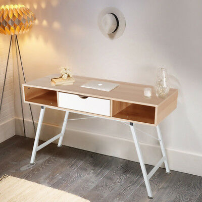 Desktop Home Scandinavian Small Office Computer PC Desk Retro Console Table  Draw