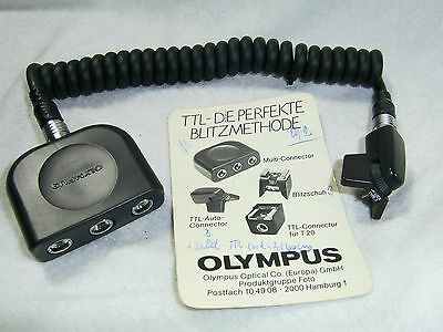 OLYMPUS MULTI CONNECTOR 5m & 2m BLITZKABEL TTL AUTO CORD TYPE 3 FOR OM 2