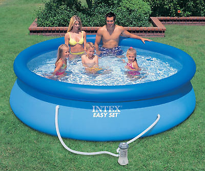 Intex Gartenpool Easy Set Pool mit Filterpumpe Swimming Pool  Quick Up Pool