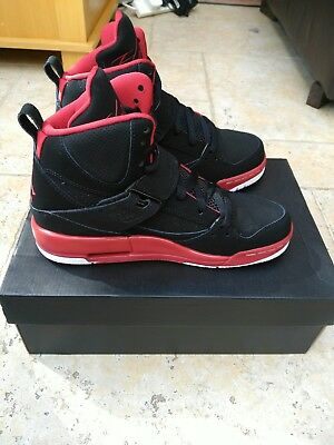 newest 1c861 69650 ... Nike Air Jordan Flight 45 High IP BG Hi Top Trainers Size UK 4.5 Black  ...