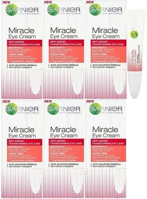 Garnier Miracle Eye Cream (6 x 15ml) Anti-Ageing Transforming Cream
