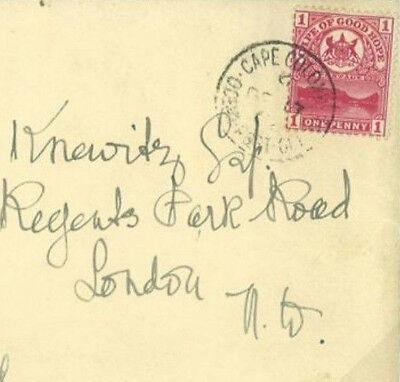 Q158 1902	South Africa COGH Cape Colony *OCEAN POST OFFICE* Empire Rate Cover
