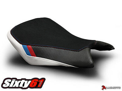 BMW S1000R Seat Cover 2016 Black Red Blue White Front Passenger Luimoto