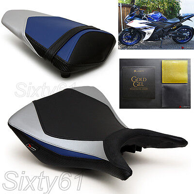 Yamaha R3 Seat Covers 2015 2016 2017 2018 Black Blue Front Rear Luimoto with Gel