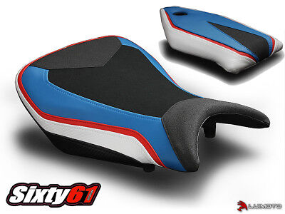 BMW S1000RR Seat Covers 2015 2016 2017 2018 Black White Front Rear Luimoto