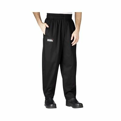 Chefwear 3000-30 Medium Black Baggy Chef Pants