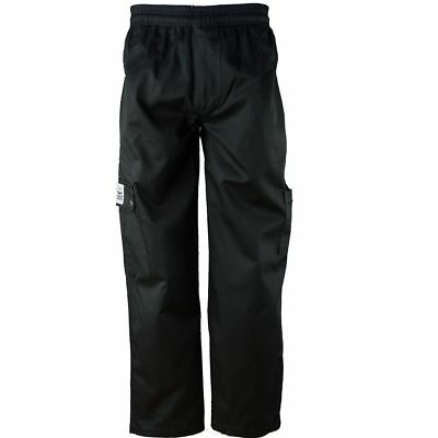 Chef Revival P024BK-M QC Lite Medium Black Cargo Pants