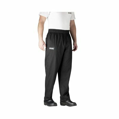 Chefwear 3500-30 Large Black Ultimate Chef Pants