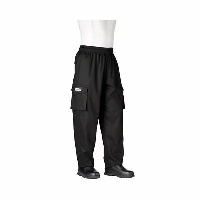 Chefwear 3200-30 Small Black Cargo Pants