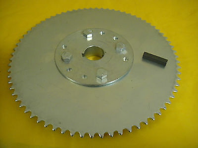 """Go Cart Sprocket And Hub For 1"""" Axle ,72 Tooth For #35 Chain  Wao: A726"""