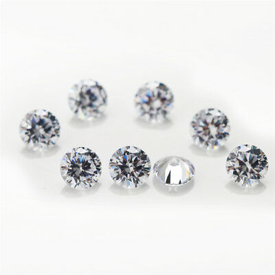 Size 0.7~15MM White AAAAA Round Shape CZ Loose Cubic Zirconia Stone