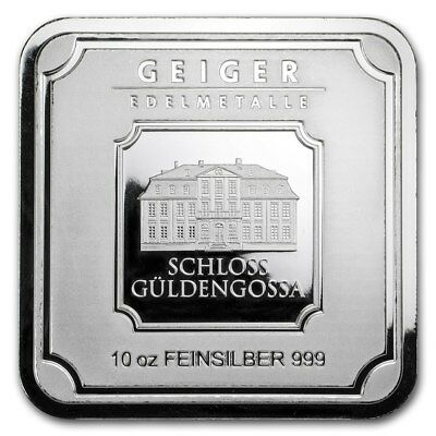 10 oz Silver Bar - Geiger Edelmetalle (Original Square)