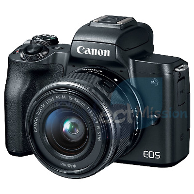 NEW ✓ Canon EOS M50 KIT w/ EF-M 15-45mm IS STM lens Black  1 YEAR WTY ✓