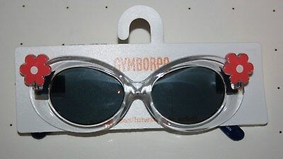 New Gymboree Clear Frames Flower Sunglasses Size 0-2 year NWT Sunny Safari Girls