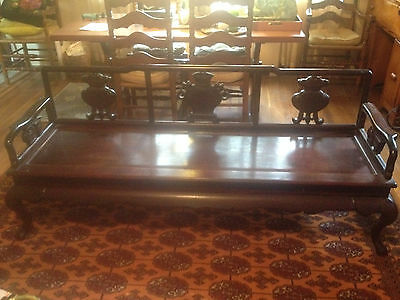 Chinese Antique Massive Carved Rosewood Living Room Sofa/Bench