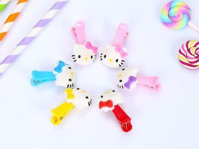 6pcs Hello Kitty Children's Girls Hair Pin Baby Hair Clip Barrette Gift