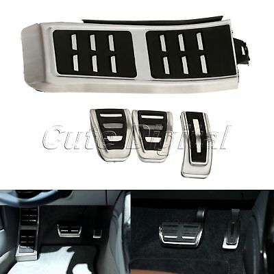 Fuel Gas Brake Foot Rest MT Pedal Plate Cover for  A4 A5 A6 RS7 A7 Q5 13-16