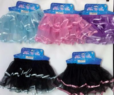 Tutu Dress Up Skirt Girls 2 layers  NEW Dancer Ballerina Ballet Skirt