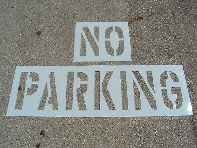 "18"" NO PARKING Stencil, Parking Lot Stencils 1/16"", 60 Mil, Pavement Marking"
