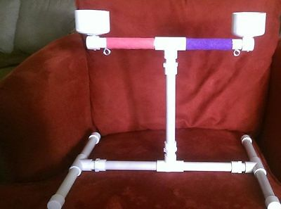 """NEW 1/2"""" PVC Parrot Training Perch Play Gym - Table Top Stand"""
