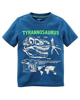 New Carter's Boys Top Dinosaur T-Rex Graphic Tee NWT 2T 3T 4T 5T 6 7 8