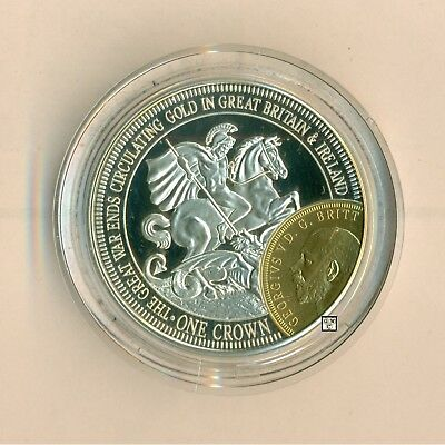 2014 London Mint World War 1 Silver Commemorative One Crown Coin-George & Dragon