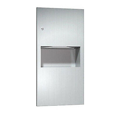 ASI 738 Paper Towel Dispenser & Waste Receptacle, Recessed