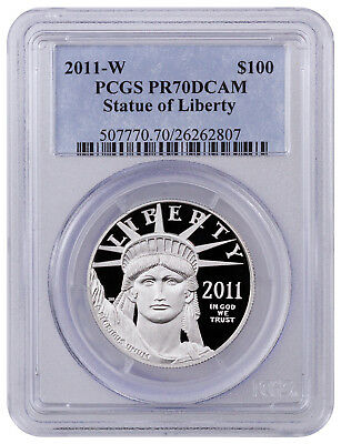 2011-W $100 1 Oz Proof American Platinum Eagle PCGS PR70 DCAM SKU41828