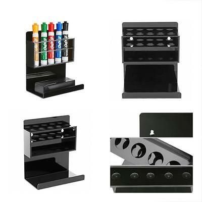 Deluxe Black Acrylic Wall Mounted 5 Slot Whiteboard Dry Erase Marker And Eraser
