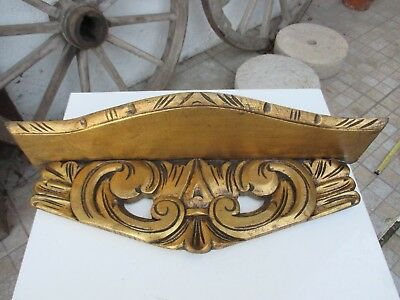 Antique or Vintage Beautiful Corbel Wall Shelf Bracket Wood Carved Gilt Gilded
