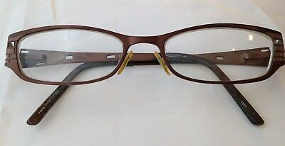 7c2be825a88 SALSA RX EYEGLASSES Brown Metal Full Rim Rectangular 51  17-140 ...