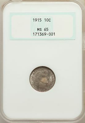 1915 Barber Dime NGC MS 65