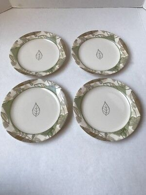 CORNING CORELLE Textured Leaves Dinner Plates, Berry Bowls & Cereal ...