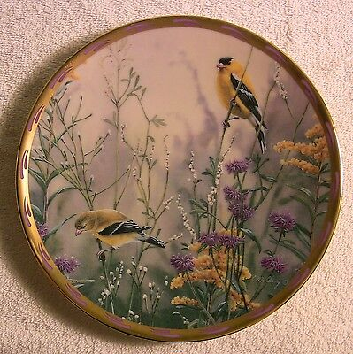 "8.25"" Lenox Natures Collage Golden Splendor Collectors Plate Catherine McClung"