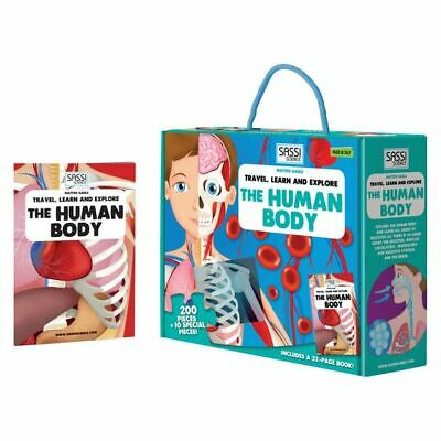 NEW SASSI Travel, Learn, & Explore The Body Book and Puzzle