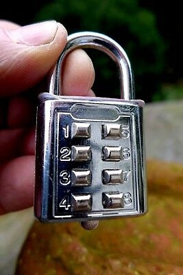 Padlock With Code Working Order No Key Unique Collector Rare 09-03