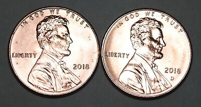 United States 2018 P+D 1 Cent Lincoln Shield Cents BU USA Pennies UNC KM# 468