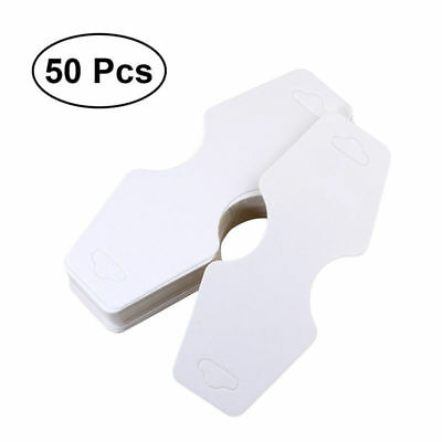 50x Jewelry Hanging Tags Bracelet  Earring Display Cards for Retail Store